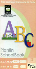 "Cricut Cartridge - ""PLANTAIN SCHOOL BOOK"" - Excellent Used Condition"
