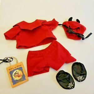Muffy Vanderbear Devil Halloween Costume Trick Treat Bag Slippers