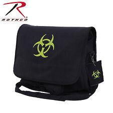 Rothco 99139 Bio-hazard Vintage Canvas Messenger Bag - Black