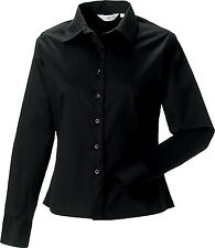 Women's Hip Length Cotton Formal Tops & Shirts