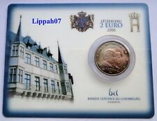 Luxemburg / Luxembourg speciale 2 euro 2006 Guillaume BU in Coincard