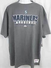 Seattle Mariners MLB Authentic Collection Granite Majestic Tee Shirt Size 3XT