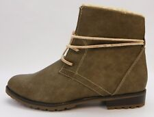 Sporto Womens Shoes Jillian Lined Lace Up Ankle Boot Booties Taupe 8.5M