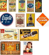 o scale vintage, weathered food & beverage decals