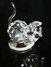 "Crystal Kitten Cat Figurine Made in Czech Republic 1.75"" x 1"" 1056"