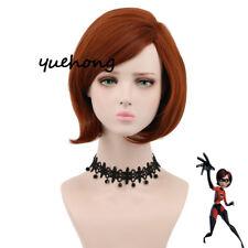 The Incredibles Helen Parr Elastigirl Short Bob Wig Cosplay Wigs For Women