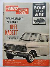 Auto Motor Sport 18/1962, Test VW 1500, Test Triumph TR 4, Opel Kadett