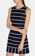KAREN MILLEN NAVY & WHITE STRIPE KNIT DRESS SIZE UK 8 BRAND NEW