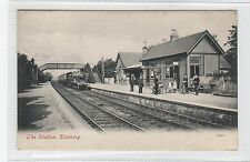 THE RAILWAY STATION, DUNNING: Perthshire postcard (C28307)