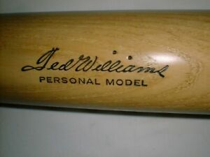 """35"""" TED WILLIAMS Bat Old Store Stock VINTAGE MINTY Signature Model RED SOX 1960s"""