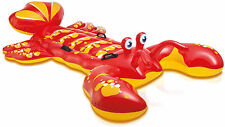 Intex Giant Inflatable Lobster Ride On Beach Toy Swimming Pool Float Aid Lilo