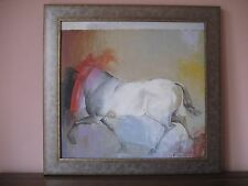 Costa Rican Listed Jorge Korea Sanguine Oil Canvas Horse Painting Animal Framed