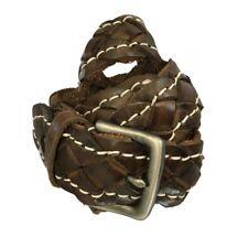 Cintura Uomo intrecciata RE colore moro 100% pelle 90 - 105 cm - tg 48