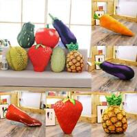 Novelty Food Plush Toy Stuffed Throw Pillow Home Sofa Cushion Fruit 3D Q3S8