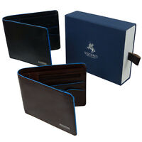 Mens Quality Italian Leather Stylish RFID Protected Bi Fold Wallet by Visconti A