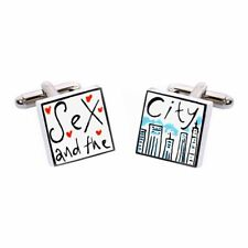Sex and the City Cufflinks by Sonia Spencer, gift boxed. Hand painted, RRP £20!
