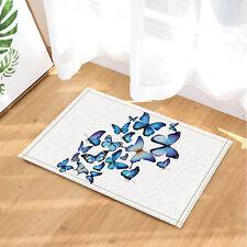 Butterfly fly Shower Floor Bathroom Carpet Rug Non Slip Door Floor Mat