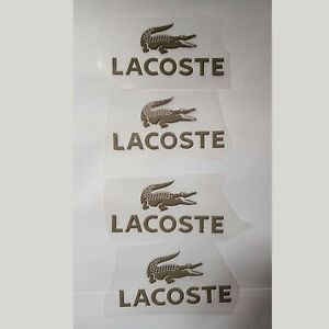 4 Lacoste Alligator Logo Iron On Patch Heat Transfer Vinyl Sticker, UK Seller