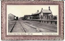 MAIL TRAIN RAILWAY STATION NARROMINE NSW  POSTCARD