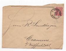 1877 GERMANY Cover HAMBURG to WOLFENBÜTTEL