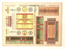 Pellerin Imagerie D'Epinal Locomotive 1091, 1091 bis, 1091 ter train paper model