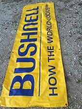 Bushnell Binoculars Vintage Banner Vinyl Store/Dealer Adv. Sign Lodge/Mancave