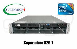 Supermicro 825-7 2x Intel Xeon X5660 80GB RAM Server 2x 750W SAS Controller