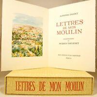 🌓 Alphonse DAUDET   Lettres de mon moulin   20 gouaches de Jacques Thévenet