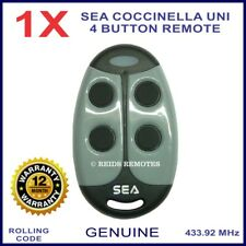 Sea Coccinella Uni genuine ladybiry shaped gate remote control 4 black buttons