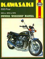 Kawasaki Z650, KZ650Repair Service Manual 1976-1978
