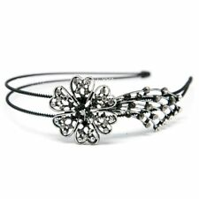 NEW Black Rhinestone Flowers Design Head Jewelry Headband Head Piece Hair Band