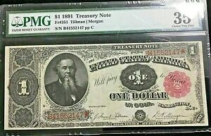 "1891 $1 United States Treasury Note Fr#351 ""Stanton"" PMG 35 CHOICE VERY FINE"