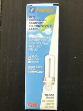 New listing Lot Of 15 Topaz Pl5 Compact Fluorescent Bulbs 2 Pin G23 Base 5 Watts 2700K