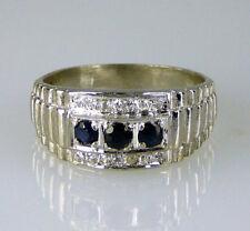 Anelli di lusso con gemme di matrimonio zaffiro