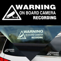 Warning On Board Camera Recording Sticker Funny Car Window Truck Vinyl Decal
