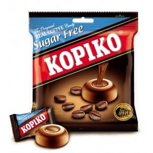 5 Packets x 75g KOPIKO *SUGAR FREE* Coffee extract hard Candy Rich coffee