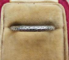 Platinum Wedding Ring Vintage Fine Rings