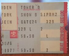 Queen * 1977 Madison Square Garden New York Ticket Stub * News of the World Tour