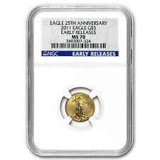2011 1/10 oz Gold American Eagle MS-70 NGC (Early Releases) - SKU#65507