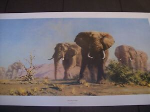david shepherd elephant print the ivory is theirs