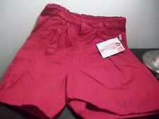 NWT VINTAGE 1989 80s RETRO RED GITANO HIGH WAISTED SHORTS SIZE 10 NEW