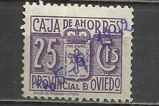 7563B-SELLO FISCAL LOCAL CORPORATIVO 1939-42.CAJA AHORROS  OVIEDO,ASTURIAS.