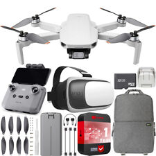 DJI Mini 2 Drone 4K Video Quadcopter + Backpack & FPV Headset Accessories Bundle
