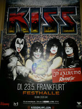 Kiss World Tour 2017 Frankfurt 84cm Konzert Plakat Concert Callejon Tour Poster