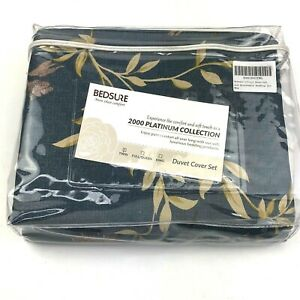 New Bedsure 2000 Platinum Collection 2 Pc Twin Duvet Cover & Sham Bird Pattern