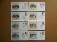 Australia 1983 Royal Visit 8 x Benham Silk Covers Various Cancels