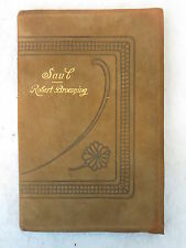 Robert Browning SAUL Thomas Y. Crowell c. 1901 SUEDE COVER