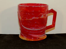 Imperial IG End of Day Slag Red Ruby Singing Bird on Vine IG Cup (6119)