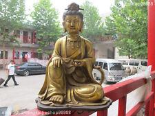 """12"""" Tibet Bronze Gild Guan Yin Bodhisattva Buddha Kwan-yin  statue"""