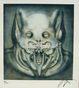 DAEMON Print by Giger  Signed limited edition of 300  Archival paper. NEW